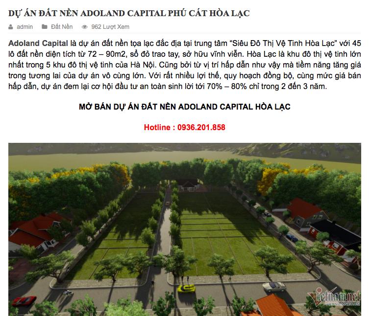 Xuất hiện dự án 'ma' kiểu Alibaba ở Hà Nội