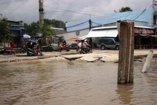 Erosion pushes Ca Mau's eastern coast to emergency status