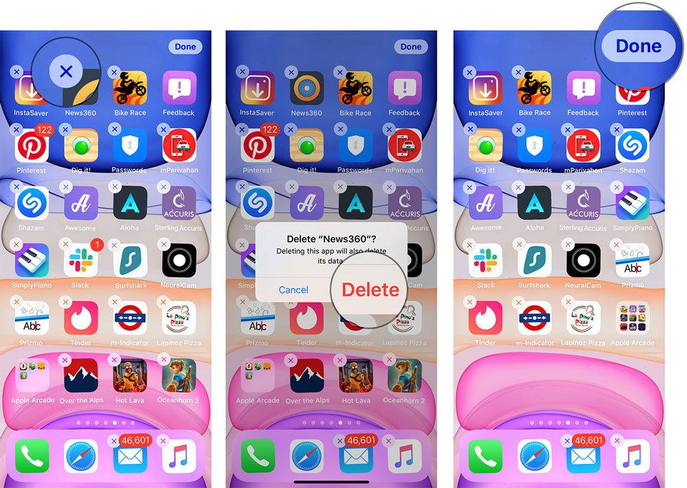 Cách dễ nhất để xoá ứng dụng trên iOS 13
