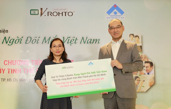 Ra mắt Quỹ từ thiện V.Rohto - Rạng ngời đôi mắt Việt Nam