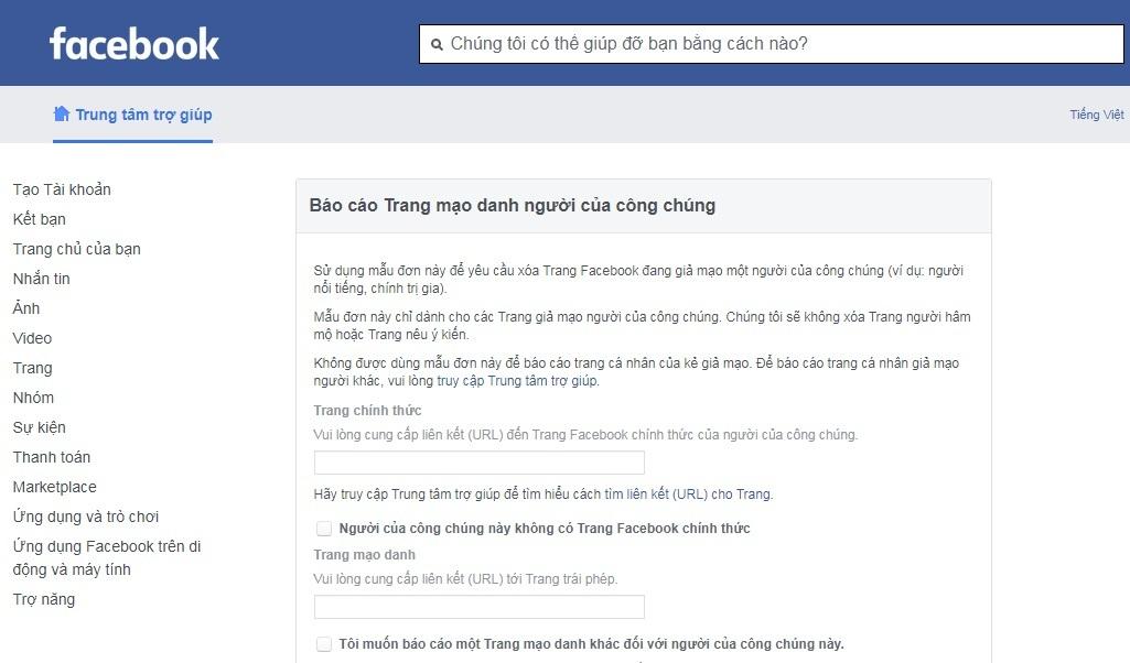 Cách xóa nội dung bẩn, tin nhắn spam và page giả mạo trên Facebook
