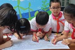 Trẻ em vẽ tranh vì 'Thành phố xanh tương lai'