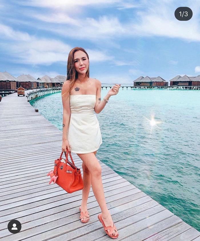 Cô gái xinh đẹp trong hội 'Rich Kids' đón sinh nhật tại Maldives
