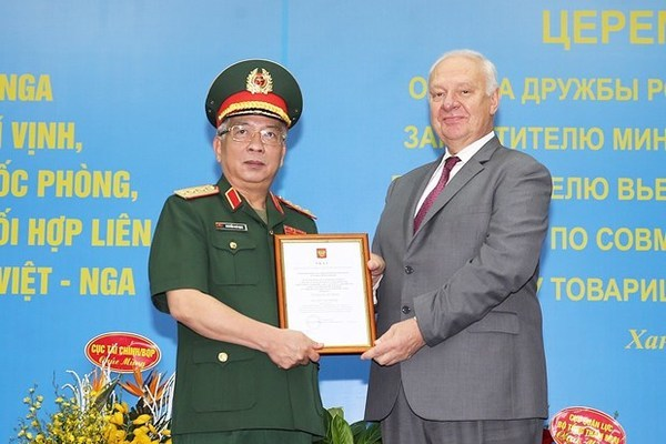 Deputy Defence Minister Sen. Lt. Gen. Nguyen Chi V,Russia's friendship order,Order of Friendship of Russia