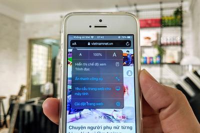 Mẹo ẩn thanh địa chỉ và thanh công cụ khi cuộn trang web trên Safari của iOS 13