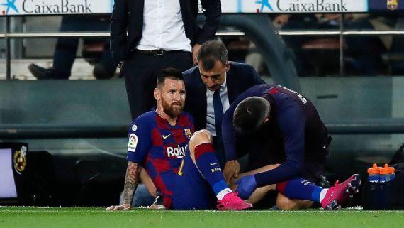 Messi vừa tái xuất, lại dính chấn thương