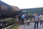 Xe tải vượt đường sắt, tàu chở hàng đứt văng 4 toa ở Nghệ An