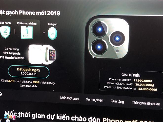 Vietnamese retailers take orders for iPhone 11