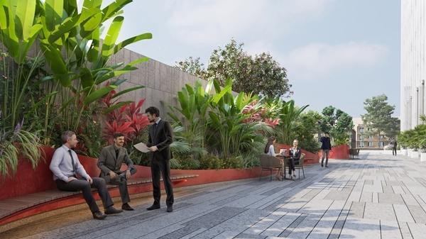 Vườn Việt 'xanh mướt' trong dự án cao ốc văn phòng Lim Tower 3
