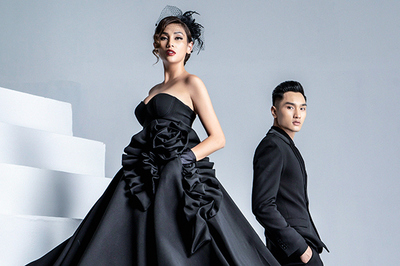 Siêu mẫu Hoàng Yến làm 'nàng thơ' cho học trò Huy Quang