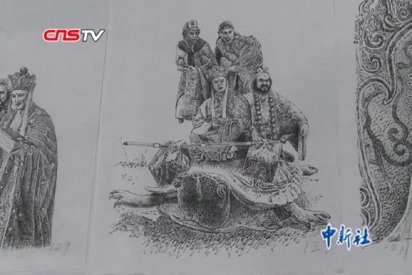 'Tây Du Ký 1986' lại gây sốt với 130 bức tranh vẽ bằng bút máy