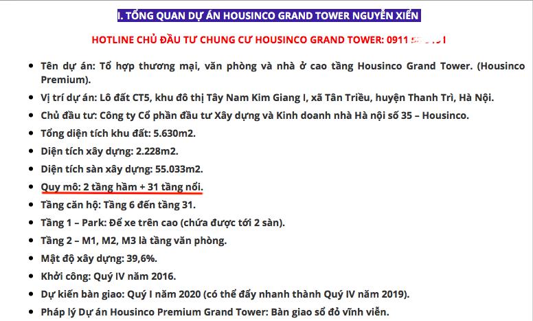 Chuyển hồ sơ dự án Housinco Tân Triều cho cảnh sát điều tra về tham nhũng