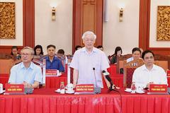 Nguyên lãnh đạo Đảng, Nhà nước góp ý vào dự thảo báo cáo trình Đại hội 13