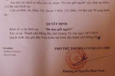 1 người dùng Facebook ở Quảng Trị bị khởi tố vì 'dọa giết người'