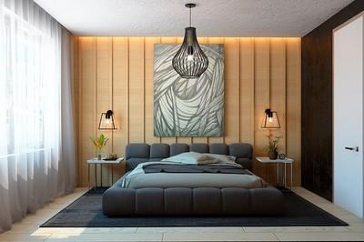 Nội thất căn hộ truyền cảm hứng với trần bê tông và sàn gỗ