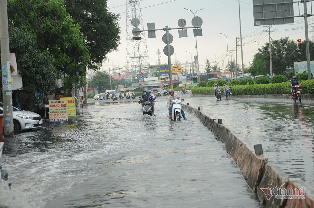 Nước đen kịt từ cống trào lên, bủa vây khắp ngõ ngách Sài Gòn