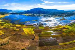 Chiêm ngưỡng cánh đồng lúa đẹp nhất nhì Tây Nguyên từ trên cao