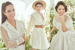 Thúy Hạnh, Trang Trần, Thu Minh đọ sắc với đầm trắng