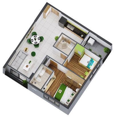 Nhiều lựa chọn diện tích căn hộ ở Picity High Park