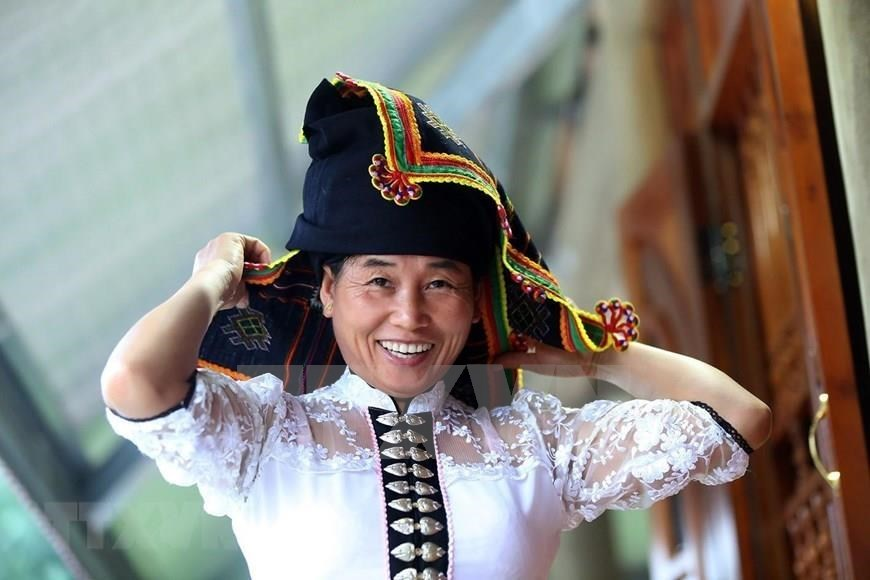 Traditional Pieu scarf of Thai ethnic people