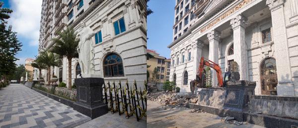 Vì sao nhiều hạng mục đã hoàn thiện ở D'. Palais Louis bị đập bỏ?