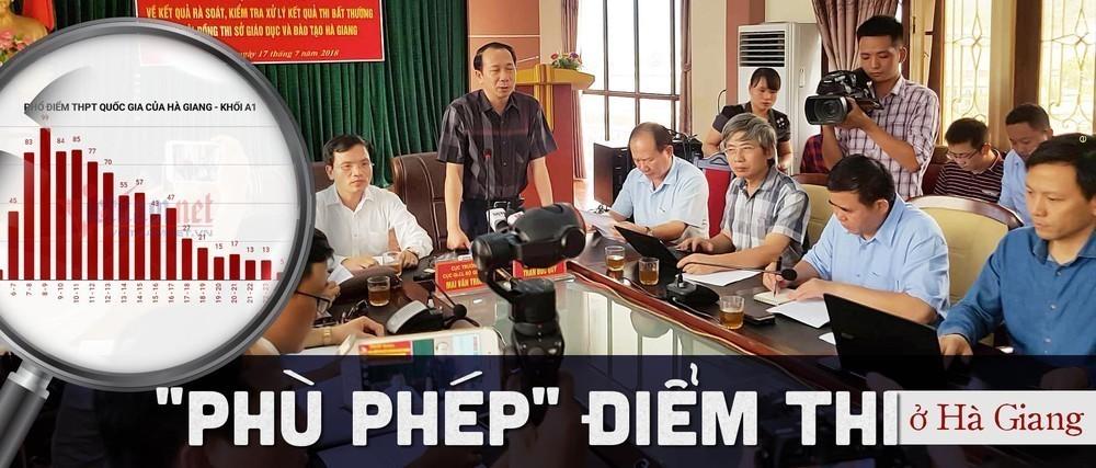 Yêu cầu kiểm điểm vợ ông Triệu Tài Vinh trong vụ nâng điểm thi ở Hà Giang