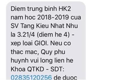 Trường gửi tin nhắn báo điểm cho phụ huynh, sinh viên náo loạn