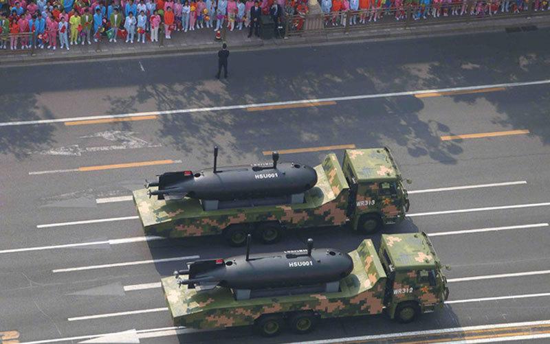 Trung Quốc,duyệt binh,duyệt binh mừng quốc khánh,thiết bị lặn không người lái,vũ khí