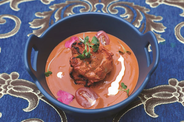 Authentic Indian food in modern style