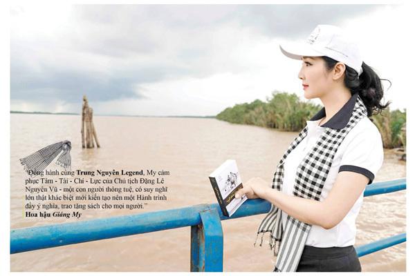 Chia sẻ ấn tượng của người đẹp Việt trong hành trình tặng sách ở ĐBSCL