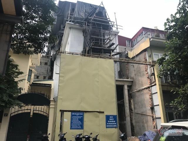 'Cắt ngọn' công trình trên đất biệt thự cổ ở trung tâm Hà Nội