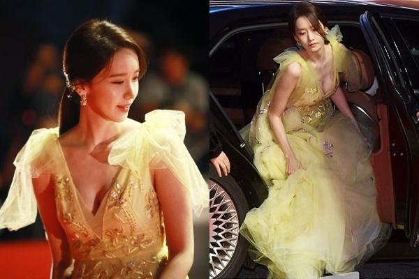 Diện đầm khoét sâu táo bạo, Yoona (SNSD) hớ hênh ngực khủng trên thảm đỏ