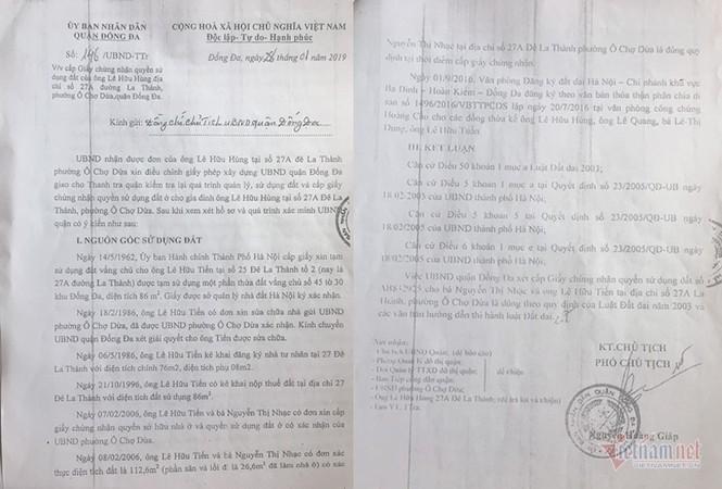 Công an Hà Nội vào cuộc vụ người chết 2 năm vẫn ký xác nhận đất