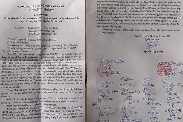 Hiệu trưởng ở Nghệ An tử vong từng 2 lần gửi đơn thư