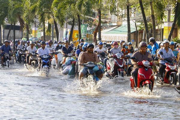 Mekong Delta,urban areas,face serious flooding,Vietnam environment,climate change in Vietnam,Vietnam weather,Vietnam climate,pollution in Vietnam,environmental news,sci-tech news,vietnamnet bridge,english news,Vietnam news,vietnamnet news