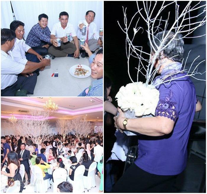 Sao Việt dở khóc dở cười vì mất điện, mưa lớn, cô dâu ngất xỉu trong hôn lễ