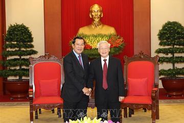 Tổng bí thư, Chủ tịch nước tiếp Thủ tướng Campuchia Hun Sen