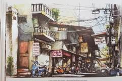 Cả bầu trời hồi ức về Hà Nội qua những bức tranh ký hoạ