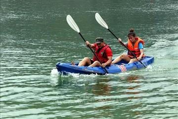 Kayaking in Vietnam and kayak racing in Tuyen Quang