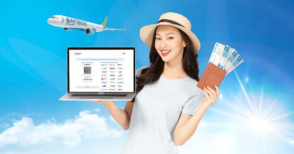 Đã có thể thanh toán vé Bamboo Airways bằng VNPAY-QR