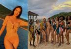 Phương Khánh gợi cảm lấn át thí sinh Hoa hậu Trái đất khi diện bikini