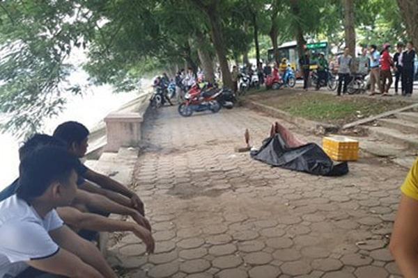 Thi thể nam thanh niên nổi trên hồ Linh Đàm