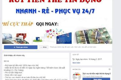 Tràn lan dịch vụ rút tiền mặt từ thẻ tín dụng dù chưa được pháp luật cho phép