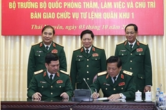 Triển khai quyết định điều động, bổ nhiệm 5 tướng lĩnh quân đội