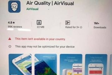 AirVisual suddenly disappears from Google Play and App Store in Vietnam