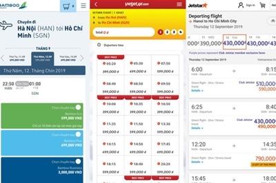 Săn vé máy bay, nghe tên hãng biết ngay giá cao - thấp