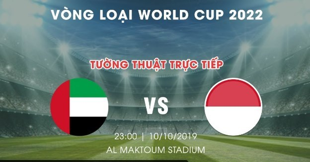 UAE vs Indonesia,Vòng loại World Cup 2022