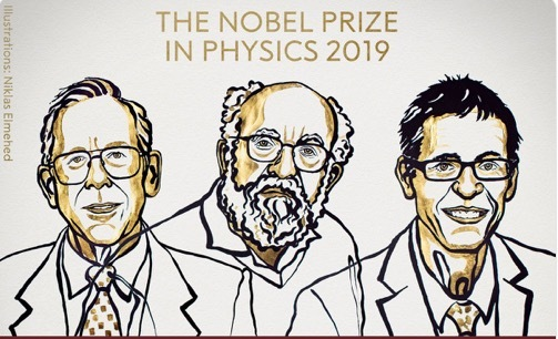 giải thưởng Nobel 2019,Nobel Vật lý 2019,giải Nobel