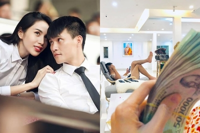 Được cho tiền, Thủy Tiên tỏ vẻ chảnh khiến chồng 'tức hộc máu'