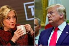 Phản ứng bất ngờ của Hillary trước 'cú chọc' của ông Trump
